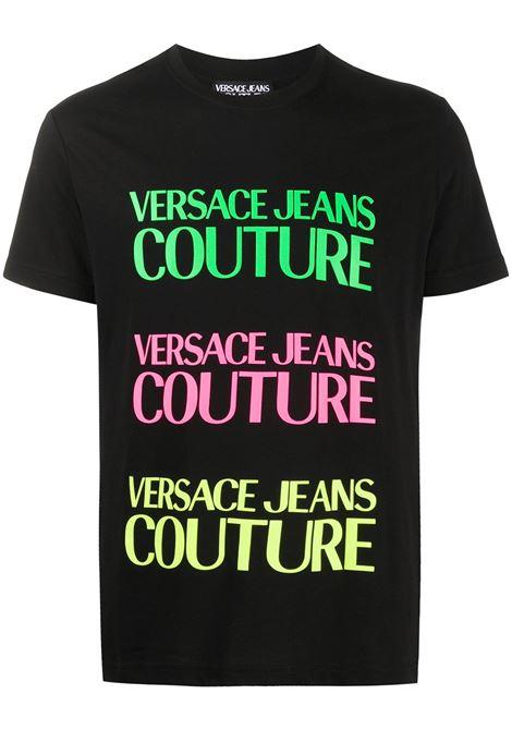 T-shirt nera VERSACE JEANS COUTURE | T-SHIRT | B3GZA7TC30319899