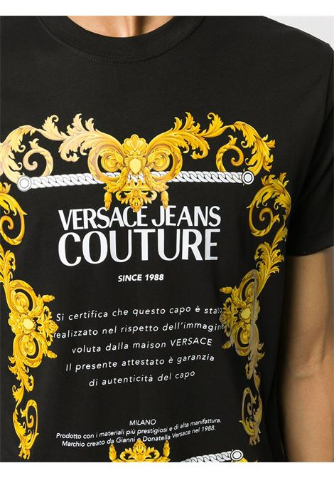 T-shirt nera VERSACE JEANS COUTURE | T-SHIRT | B3GZA7TG30319K42