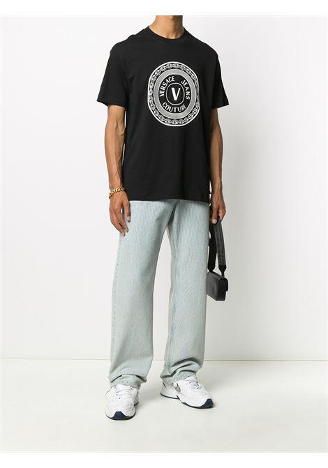 T-shirt nera VERSACE JEANS COUTURE | T-SHIRT | B3GZA7TJ30319899