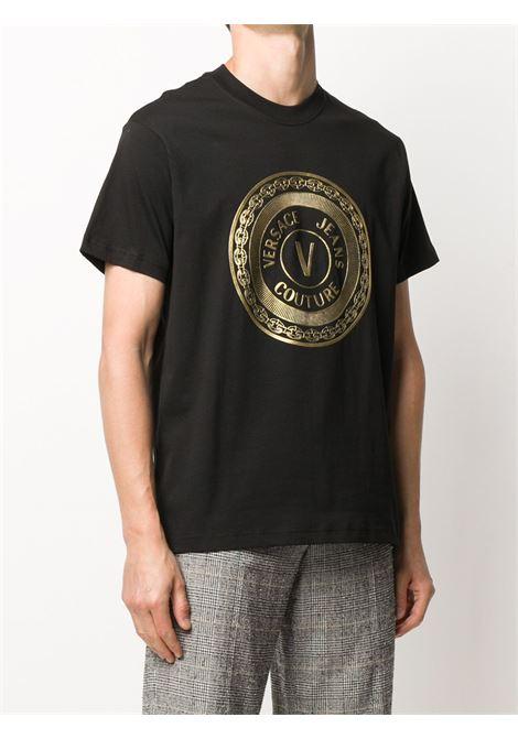T-shirt nera VERSACE JEANS COUTURE | T-SHIRT | B3GZA7TK30319K42