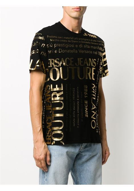 T-shirt nera VERSACE JEANS COUTURE | T-SHIRT | B3GZA7TL30319K42