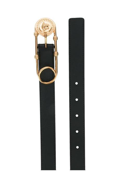 Cintura nera VERSACE | CINTURE | DCDH687DV3TK41OT