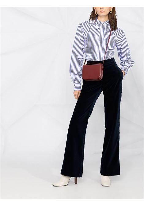 Pantalone blu VICTORIA BECKHAM | PANTALONI | 1420WTR002142ANAVY