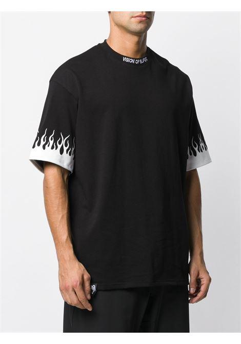 Black t-shirt VISION OF SUPER |  | VOSB1FLWHITEBLACK