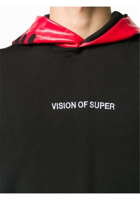 Felpa nera/rossa VISION OF SUPER | FELPE | VOSB2FLREDBLACK
