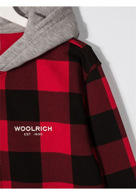 Felpa nero/rosso WOOLRICH | FELPE | CFWKSW0066MRTUT24475321