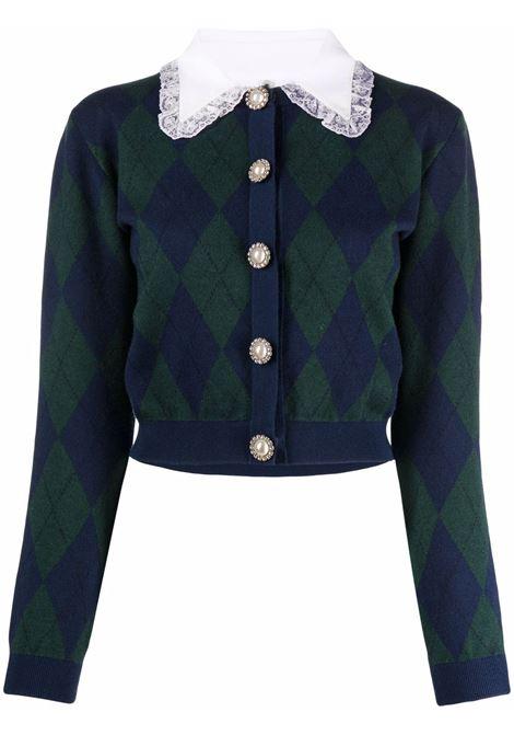 Cardigan blu/verde ALESSANDRA RICH | FAB2588K3371300