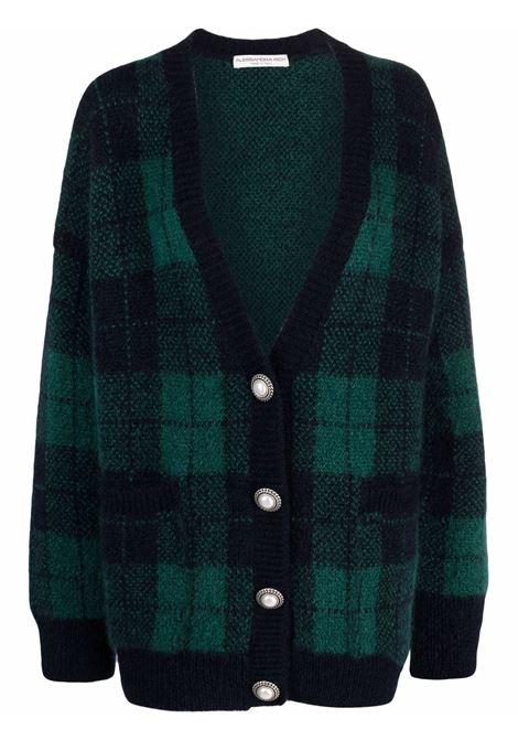 Cardigan blu/verde ALESSANDRA RICH | FAB2623K33639016
