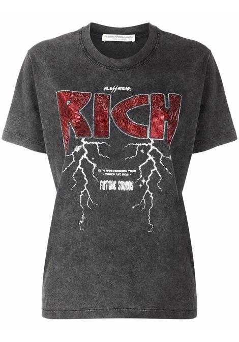 T-shirt grigia ALESSANDRA RICH | FAB2662F33671739