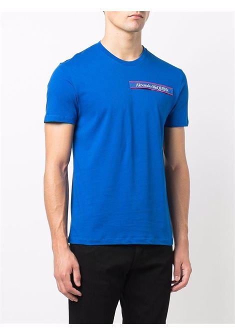 Blue t-shirt ALEXANDER McQUEEN | T-SHIRT | 642662QRX740903
