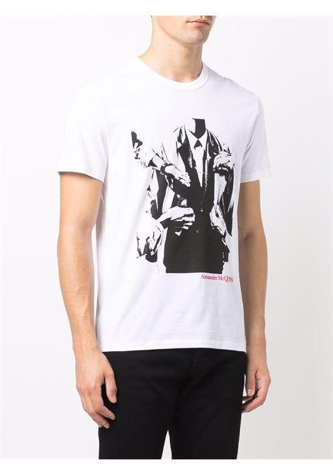 T-shirt bianca ALEXANDER McQUEEN | 666615QRZ930900