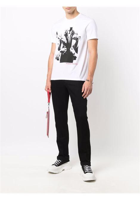 White t-shirt ALEXANDER McQUEEN | T-SHIRT | 666615QRZ930900