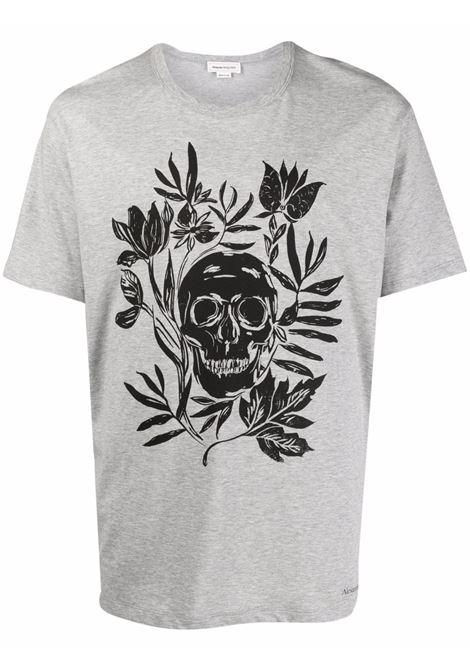 T-shirt grigia ALEXANDER McQUEEN | 666616QRZ940902