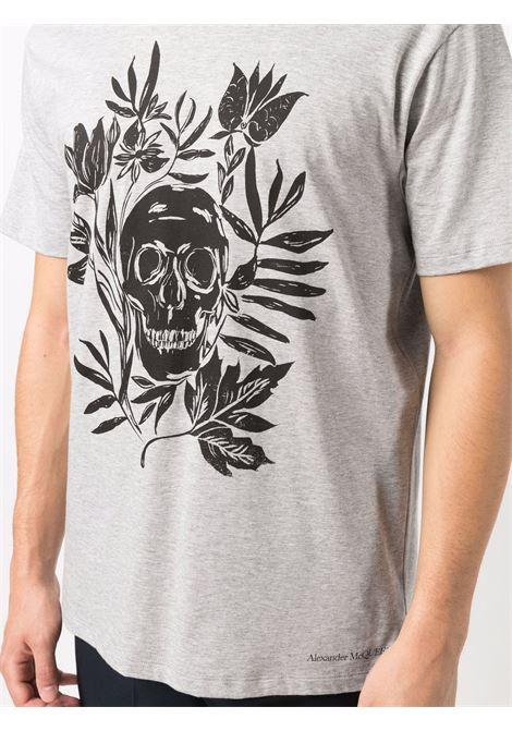 Grey t-shirt ALEXANDER McQUEEN | T-SHIRT | 666616QRZ940902