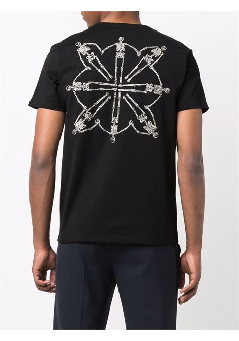 T-shirt nero ALEXANDER McQUEEN | 666619QRX031000