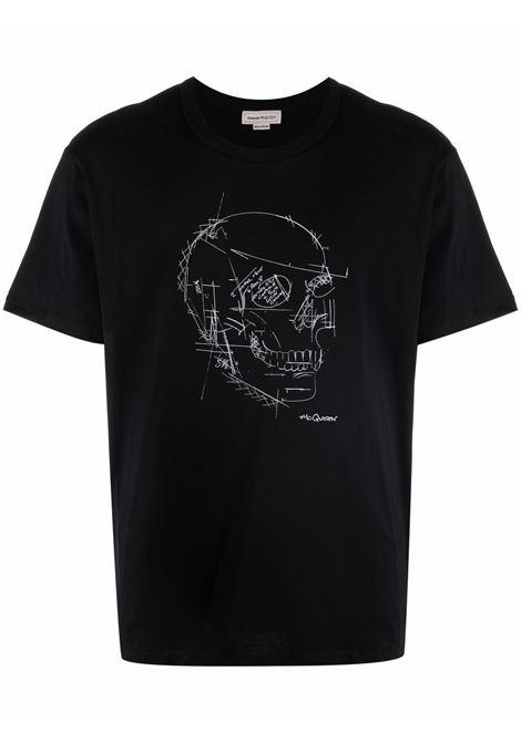 T-shirt nera ALEXANDER McQUEEN | 666623QRZ7A0901
