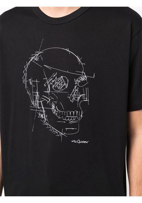 Black t-shirt ALEXANDER McQUEEN | T-SHIRT | 666623QRZ7A0901