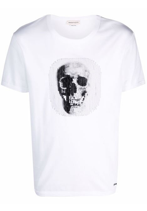 T-shirt bianca ALEXANDER McQUEEN | 666625QRX889000