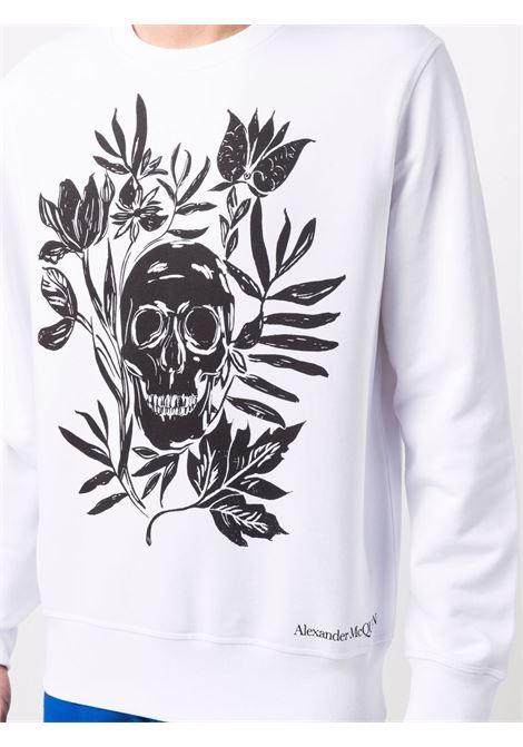 White sweatshirt ALEXANDER McQUEEN | SWEATSHIRTS | 666639QRZ1A0900