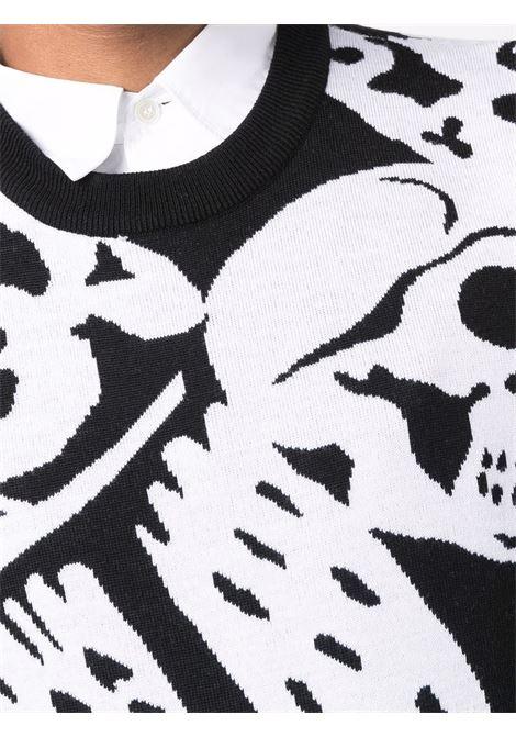 Maglione nero/bianco ALEXANDER McQUEEN | MAGLIONE | 668978Q1XCF1001