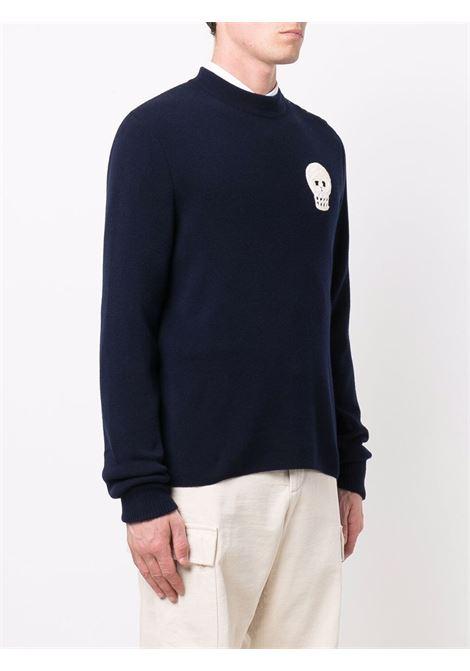 Pullover blu/avorio ALEXANDER McQUEEN | 670172Q1XCM4272