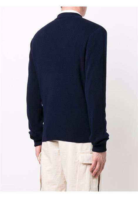 Blue/ivory pullover ALEXANDER McQUEEN | PULLOVER | 670172Q1XCM4272