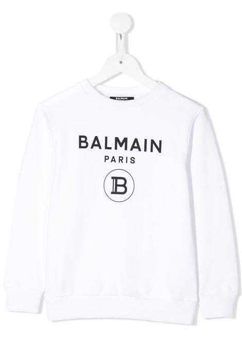 White sweatshirt BALMAIN KIDS | 6M4760MX270100