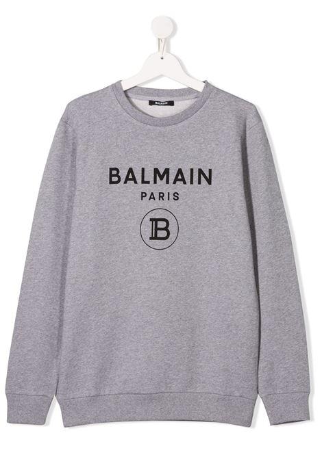 Felpa con logo BALMAIN KIDS | 6M4760TMX270915