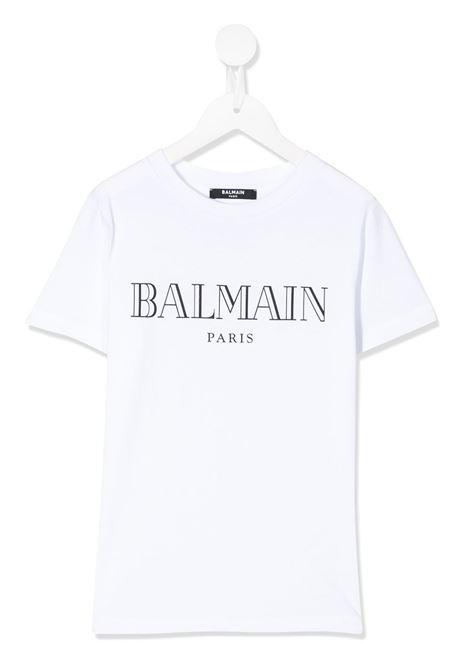 White t-shirt BALMAIN KIDS | 6M8721MX030100