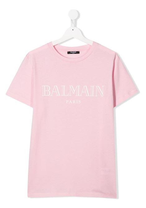T-shirt rosa BALMAIN KIDS | 6M8721TMX030506