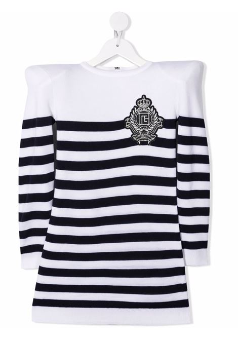 White pullover BALMAIN KIDS | 6P1120TW0011100BL