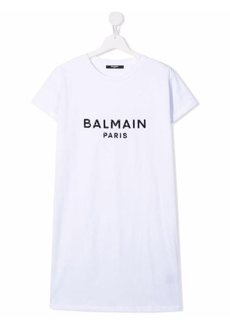 White dress BALMAIN KIDS | 6P1151TZ0057100