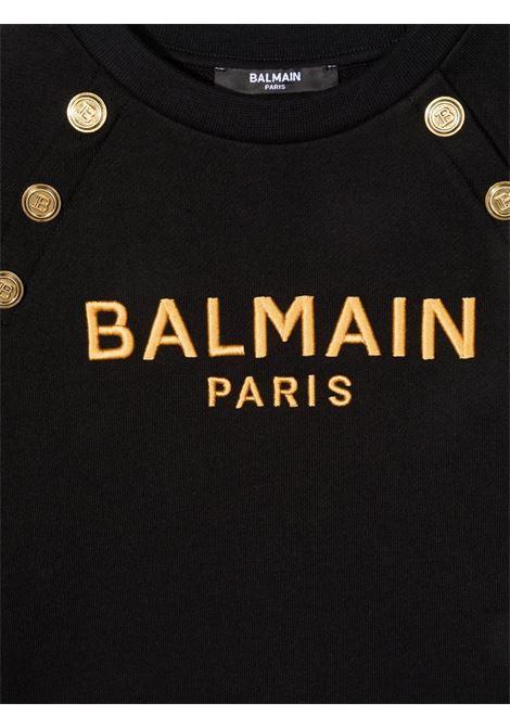 Black sweatshirt BALMAIN KIDS | 6P4050F0015930OR