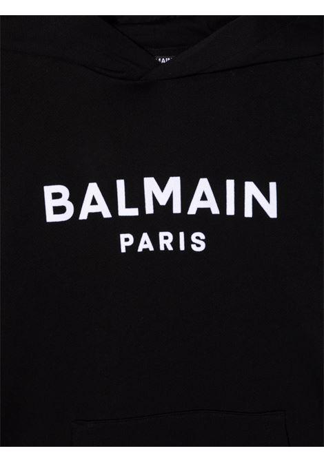 Black sweatshirt BALMAIN KIDS | 6P4540Z0002930BC