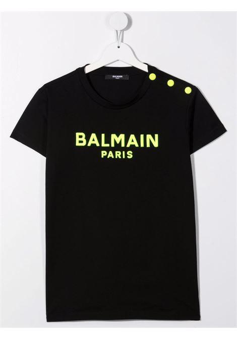 Black t-shirt BALMAIN KIDS | 6P8051TJ0006930GL