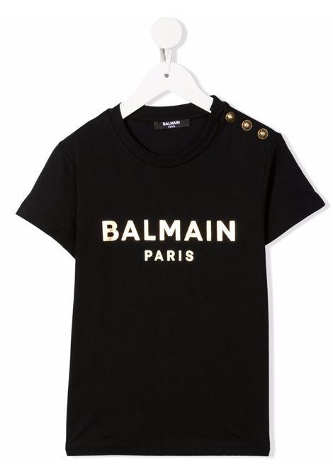Black t-shirt BALMAIN KIDS | 6P8101J0006930
