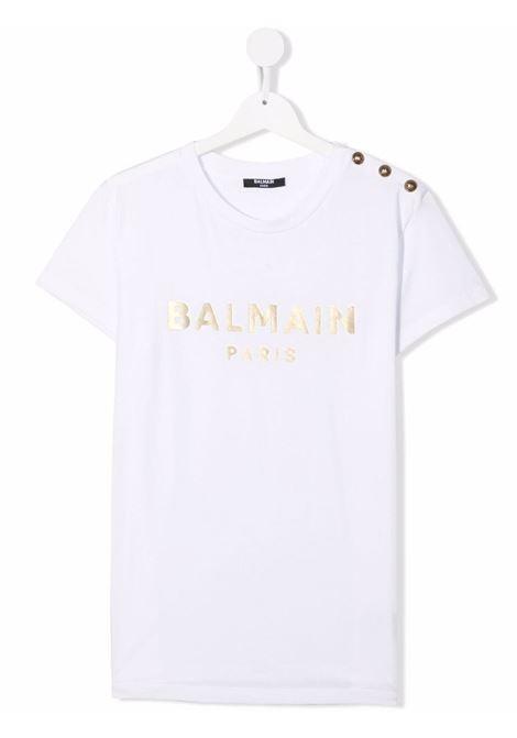 T-shirt bianca BALMAIN KIDS   T-SHIRT   6P8101TJ0006100