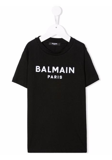 Black t-shirt BALMAIN KIDS | 6P8521Z0003930BC