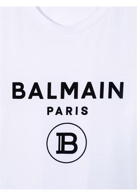 T-shirt bianco BALMAIN KIDS   T-SHIRT   6P8541TZ0003100NE