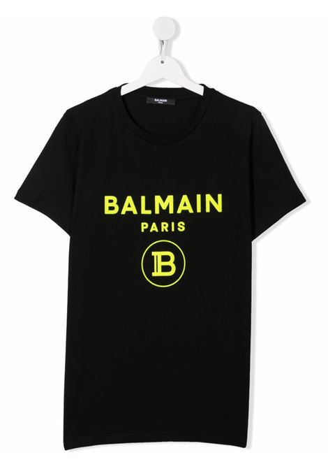 T-shirt nera BALMAIN KIDS   T-SHIRT   6P8541TZ0003930GL
