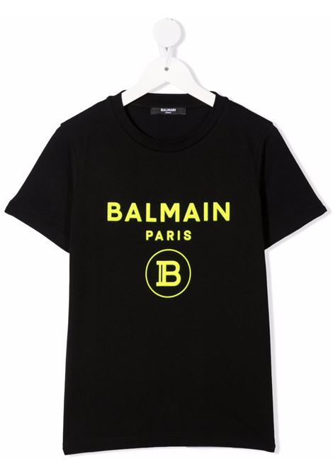 Black t-shirt BALMAIN KIDS | 6P8541Z0003930GL