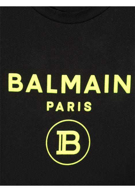 T-shirt nera BALMAIN KIDS   T-SHIRT   6P8541Z0003930GL