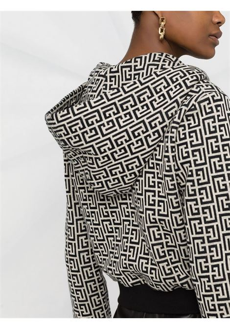 White/black sweatshirt BALMAIN   WF1JX000J193GFE