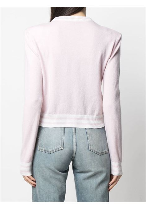 Maglione rosa/bianco BALMAIN | WF1KA000K225OCD