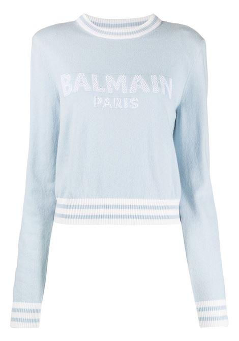 Maglione blu BALMAIN | MAGLIONE | WF1KA000K225SDK
