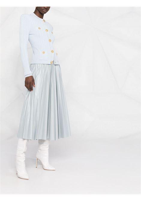 Cardigan blu BALMAIN   CARDIGAN   WF1KL005K2116AC