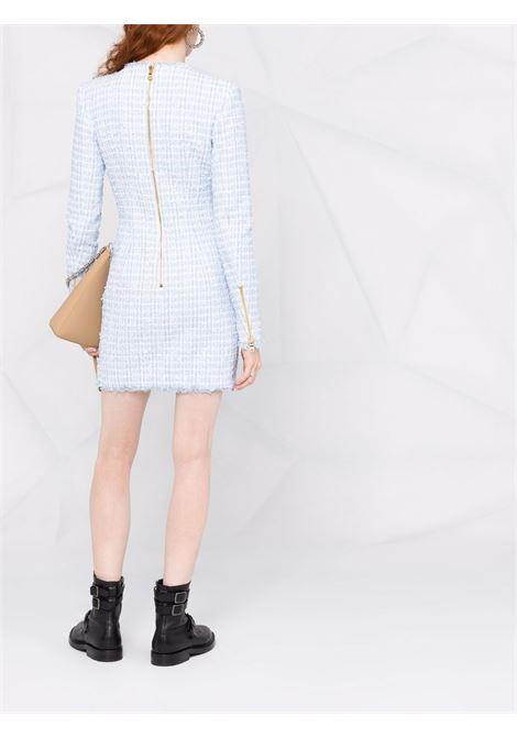 Blue/white dress BALMAIN   WF1R8000X490SDK