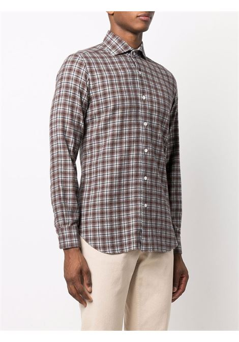 Brown shirt BARBA   K1U13P01843907Q