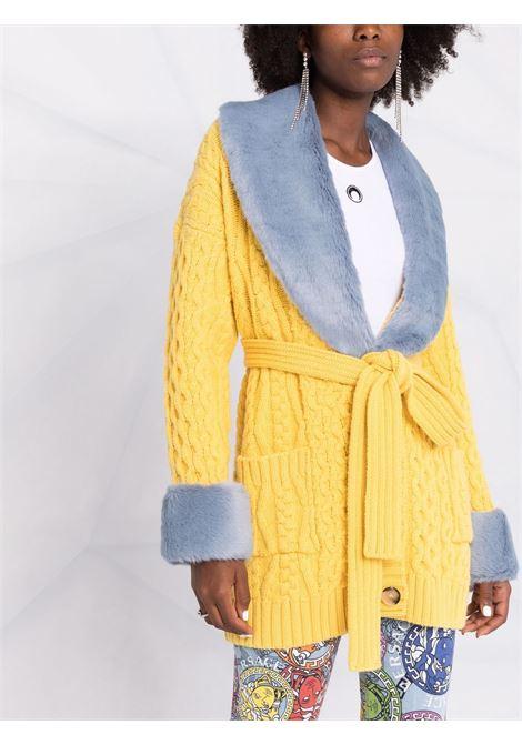 Grey/Yellow coat BLUMARINE | 2M014S1904