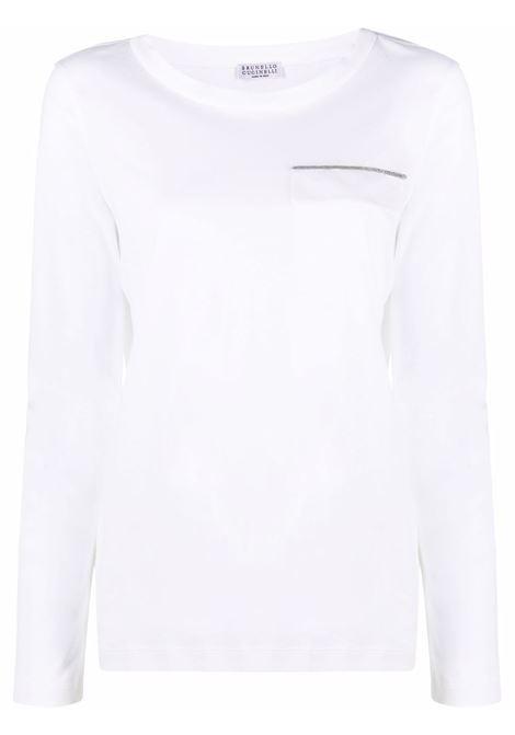 T-shirt bianca BRUNELLO CUCINELLI | T-SHIRT | M0A45BM510C159
